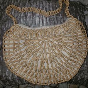 Cream All Beaded Handbag Purse
